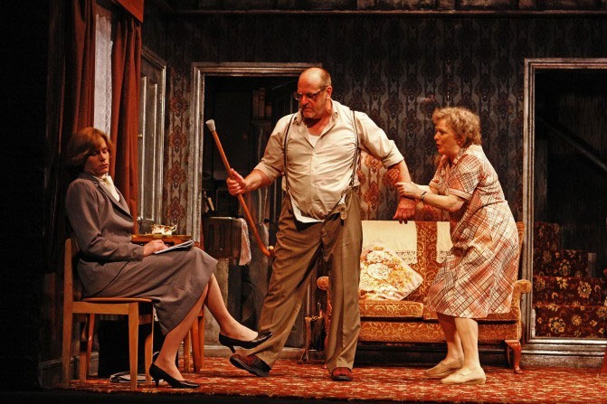 Richard Glaves as Ms Craig, David Troughton as Wilfred Craven and Alison Steadman as Connie Craven