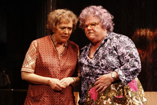 Alison Steadman as Connie Craven and Carol Macredy as Mrs Clegg