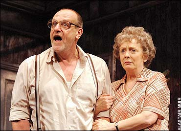 Bitterly funny: David Troughton and Alison Steadman in Enjoy